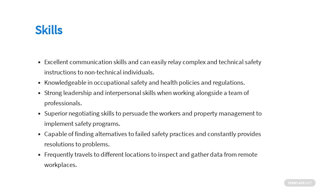 Free Safety And Occupational Health Specialist Job AD/Description Template 4.jpe