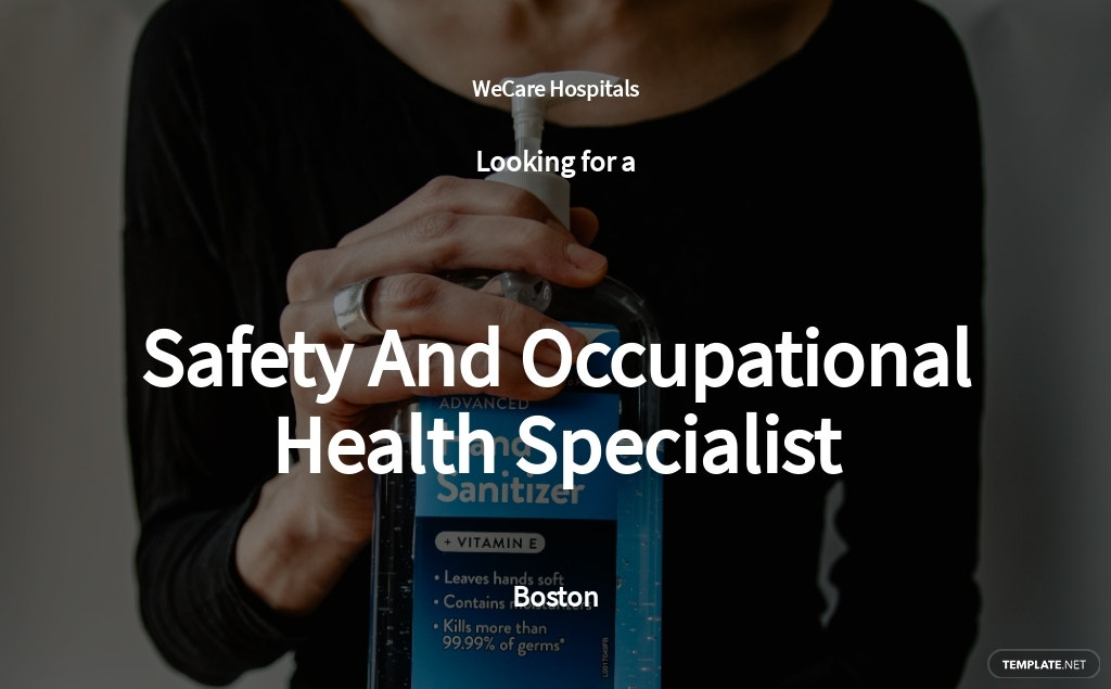 Free Safety And Occupational Health Specialist Job AD/Description Template.jpe