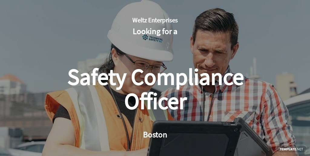 Free Safety Compliance Officer Job AD/Description Template.jpe