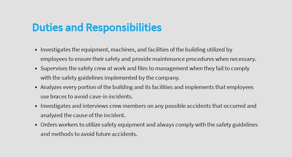 Free Safety Inspector Job Description Template 3.jpe