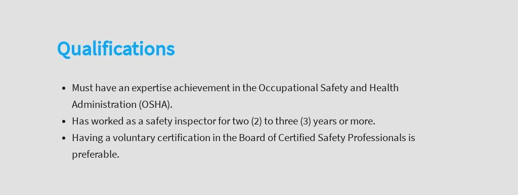 Free Safety Inspector Job Description Template 5.jpe