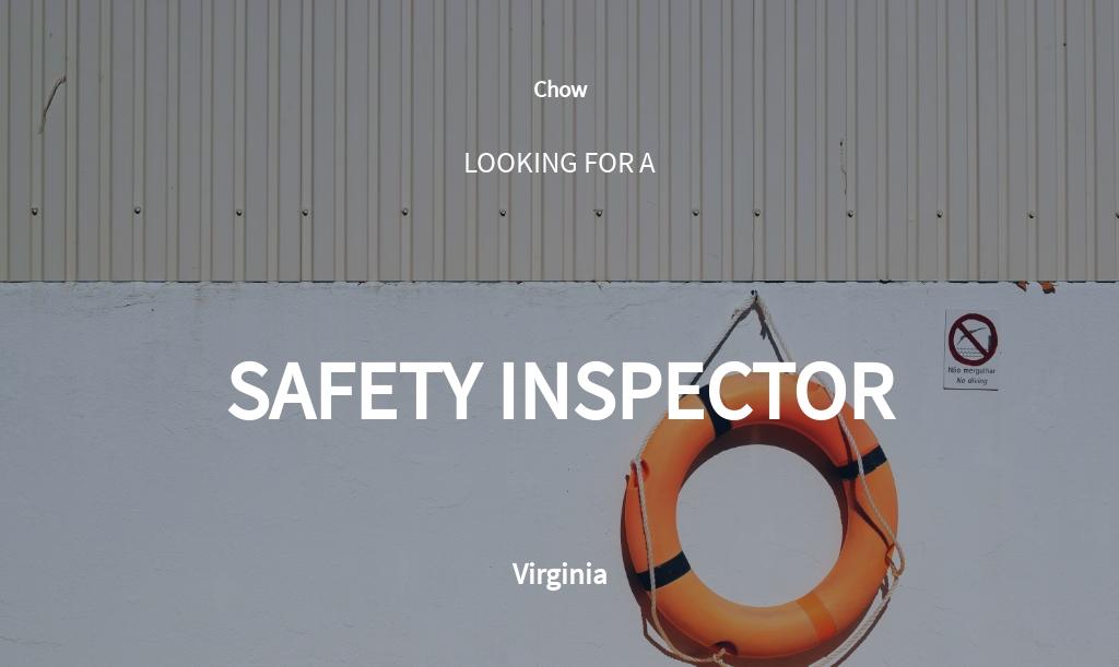 Free Safety Inspector Job Description Template.jpe