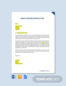 Free Safety Officer Cover Letter Template