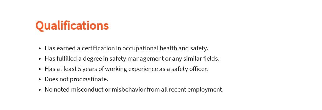 Free Safety Officer Job Description Template 5.jpe