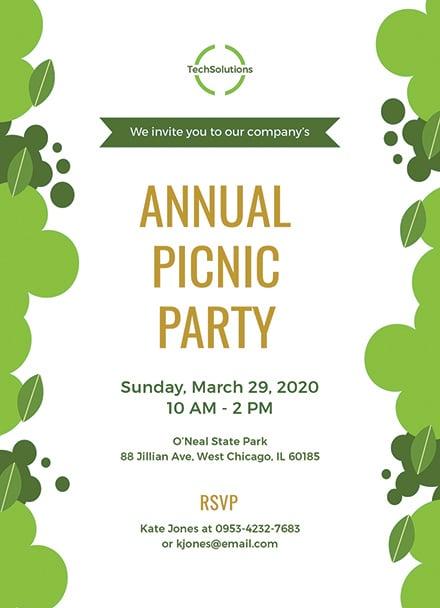 free office picnic invitation template  download 344