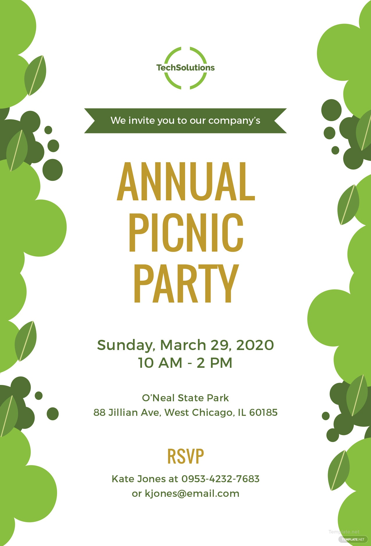 free office picnic invitation template in microsoft word