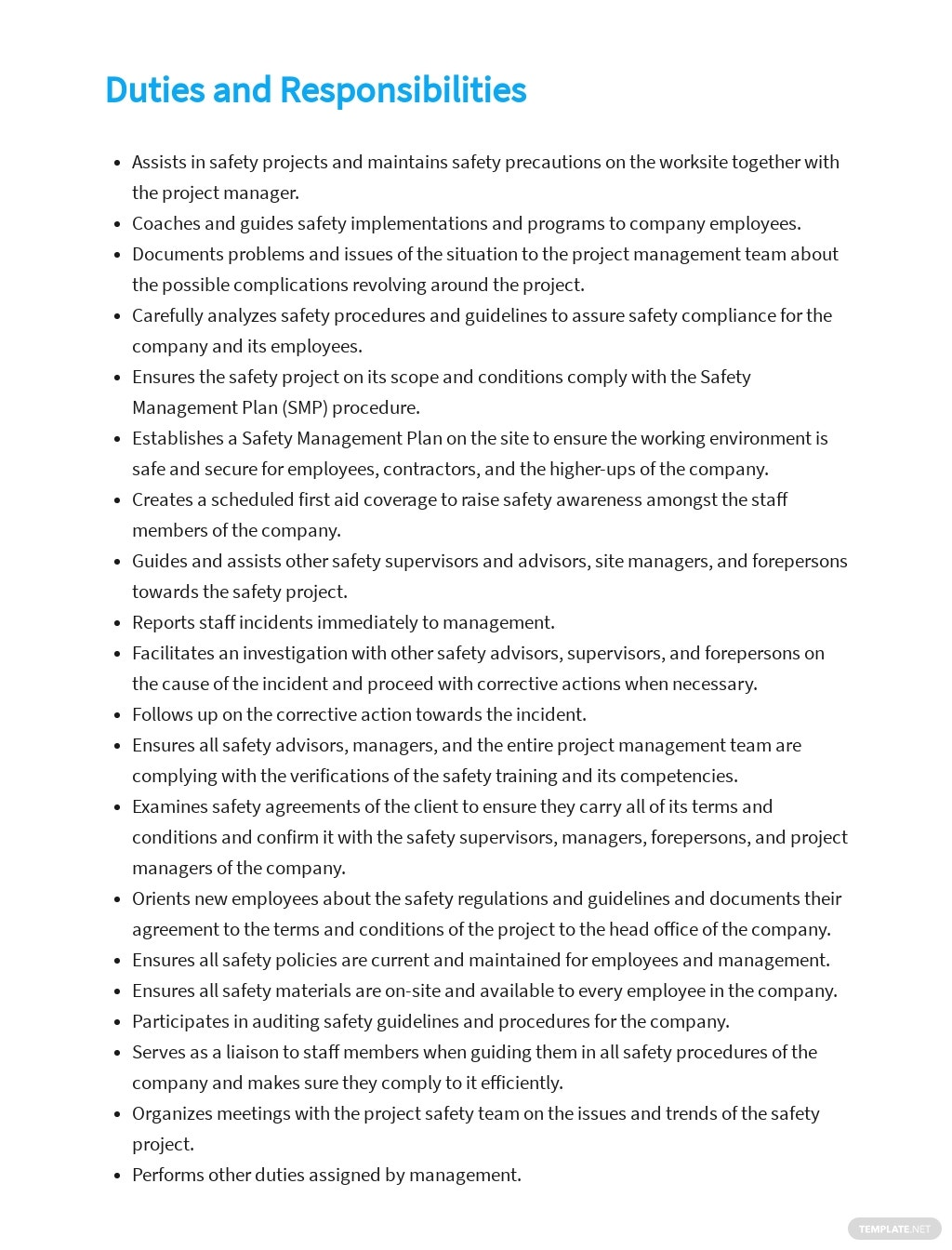 Free Safety Supervisor Job Description Template 3.jpe