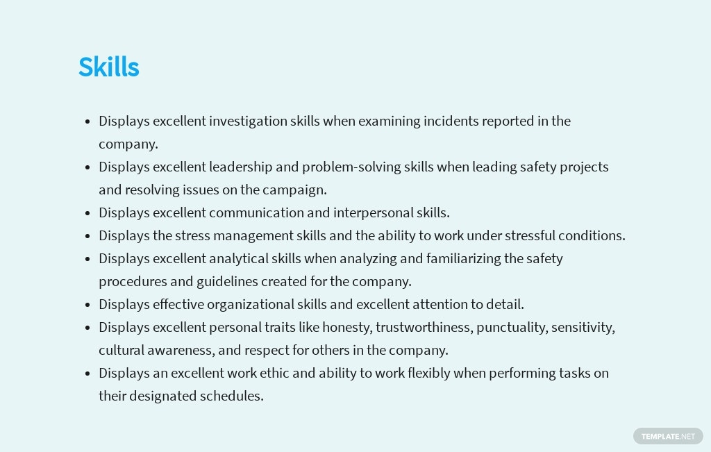 Free Safety Supervisor Job Description Template 4.jpe