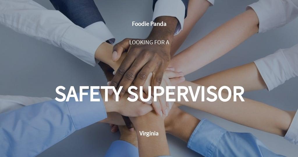 Free Safety Supervisor Job Description Template.jpe