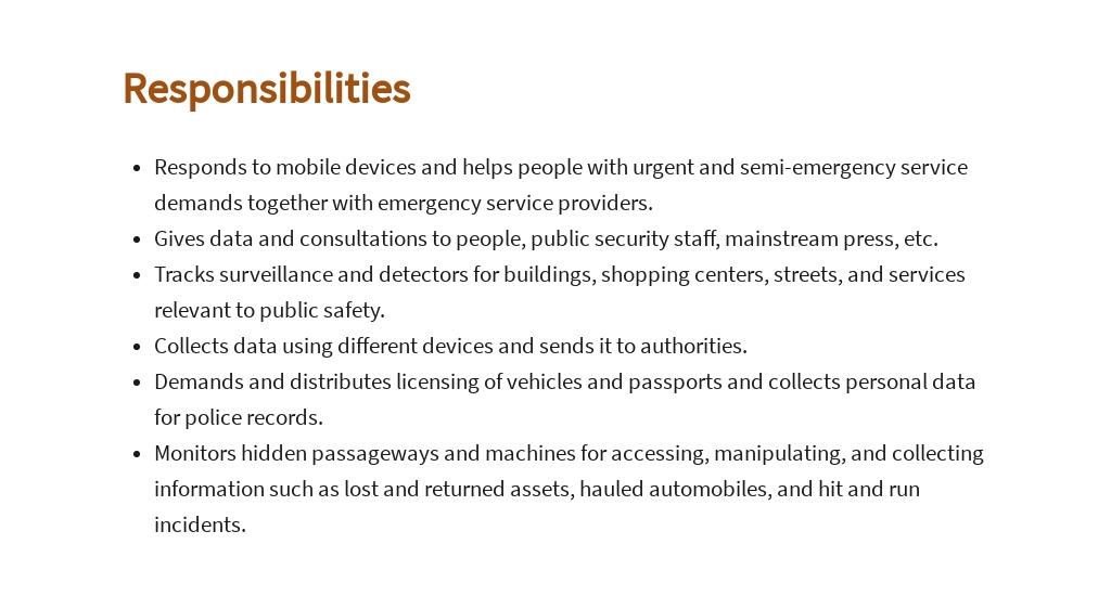 Free Public Safety Dispatcher Job AD/Description Template 3.jpe