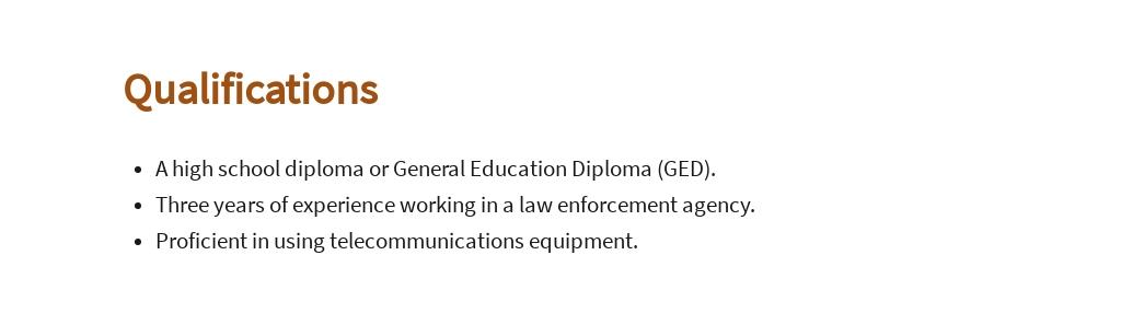 Free Public Safety Dispatcher Job AD/Description Template 5.jpe