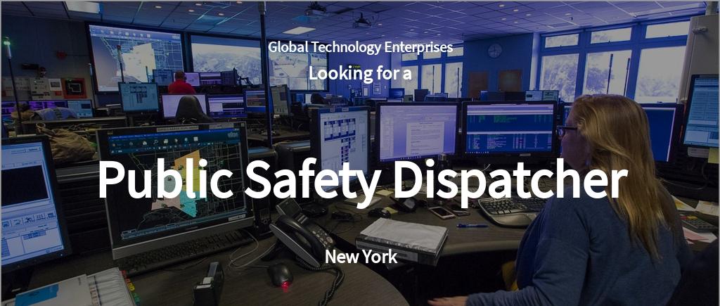 Free Public Safety Dispatcher Job AD/Description Template.jpe