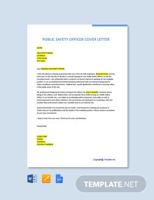 Free Public Safety Officer Cover Letter Template