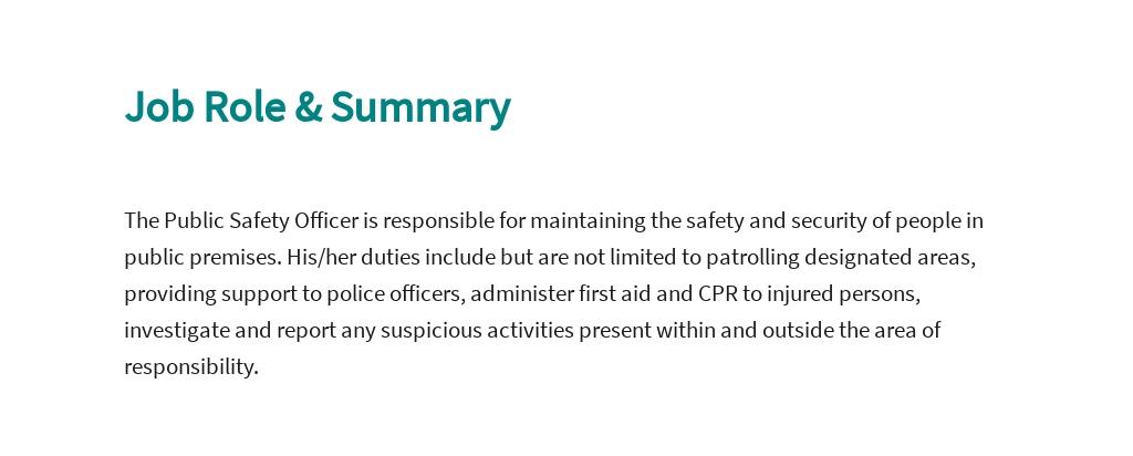 Free Public Safety Officer Job AD/Description Template 2.jpe