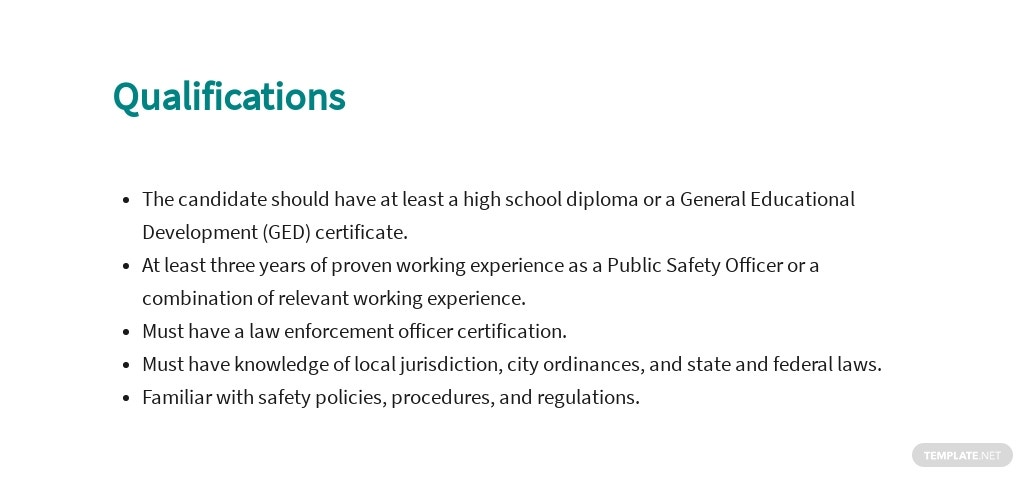 Free Public Safety Officer Job AD/Description Template 5.jpe