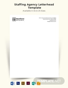 Staffing Agency Letterhead Template