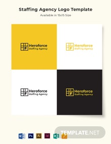 Staffing Agency Logo Template