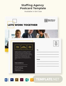 Staffing Agency Postcard Template