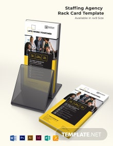 Staffing Agency Rack Card Template