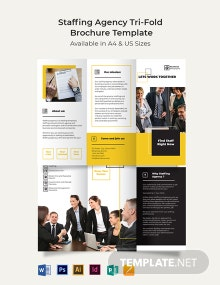 Staffing Agency Tri-Fold Brochure Template