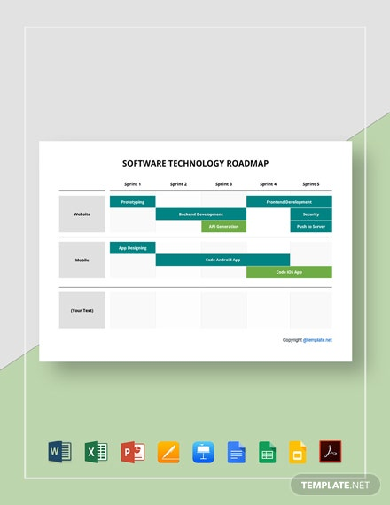 Free Sample Software Technology Roadmap Template