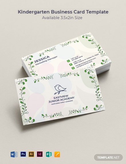 Simple Kindergarten Business Card Template