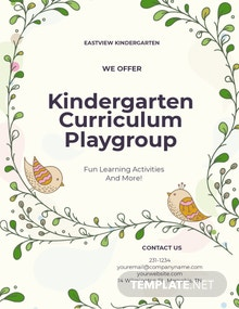 Kindergarten Promotion Flyer Template