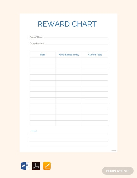 Free Reward Chart Template