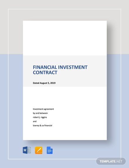 Financial Investment Contract Template