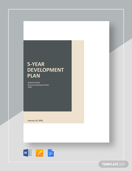 5-Year Development Plan Template