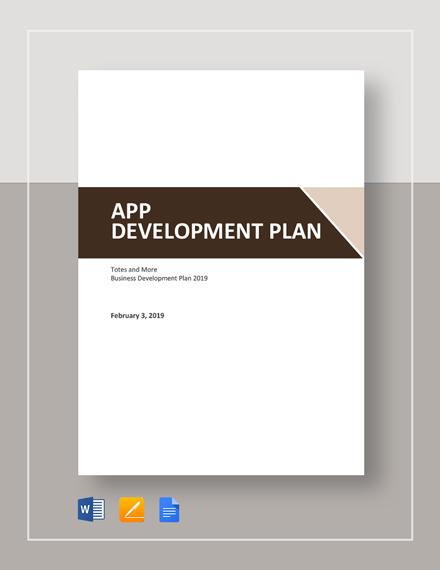 App Development Plan Template