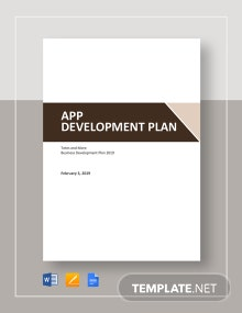 App Development Plan Template