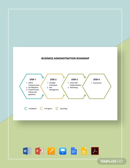 Business Administration Roadmap Template