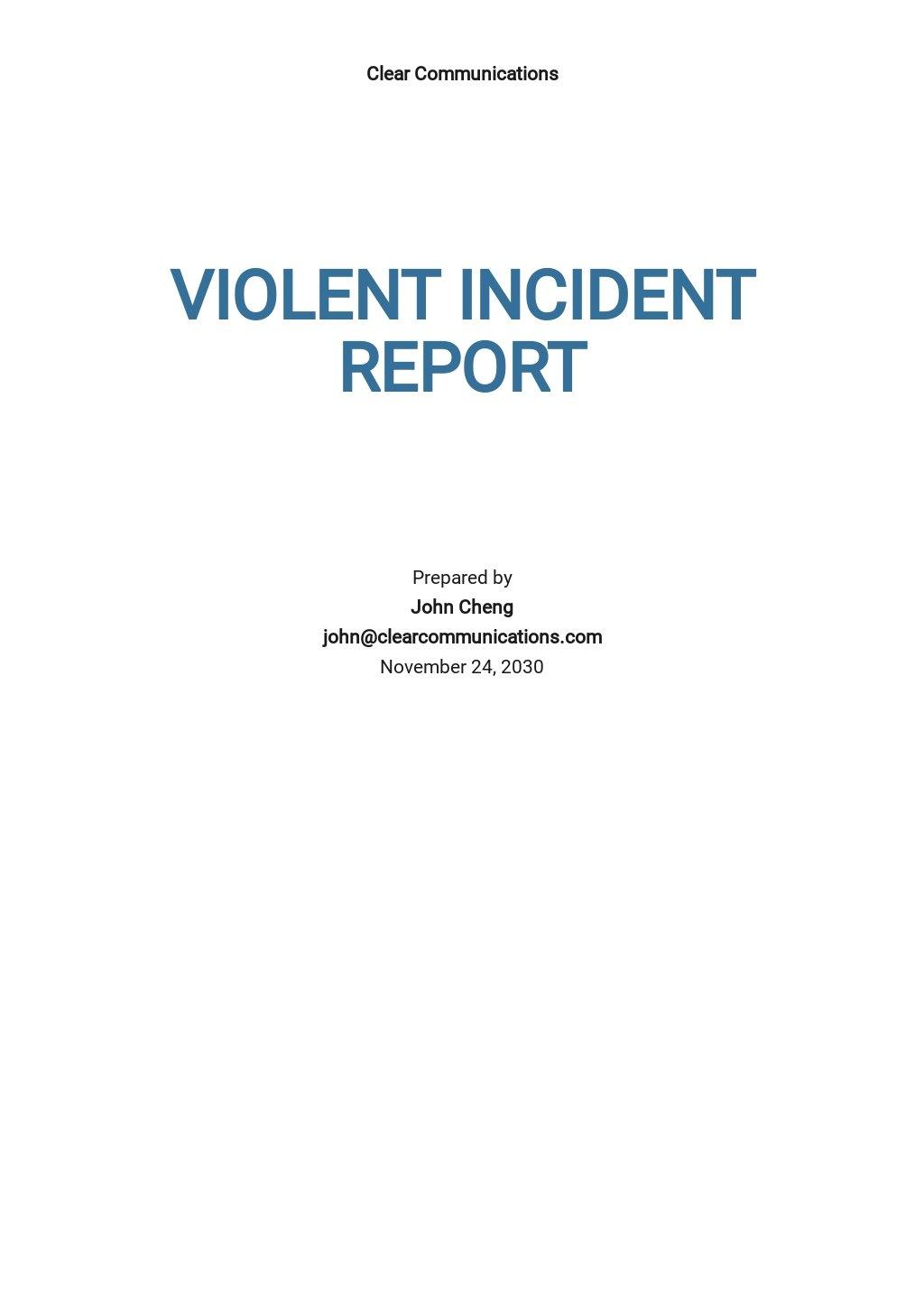 Violent Incident Report Form Template.jpe