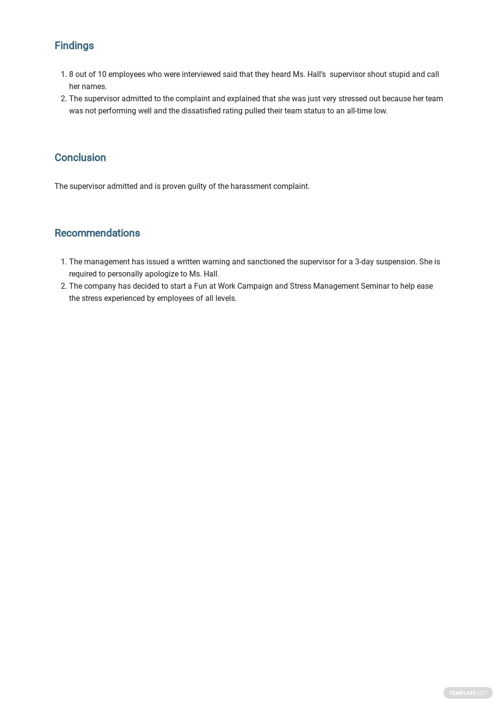 Workplace Harassment Incident Report Form Template 2.jpe