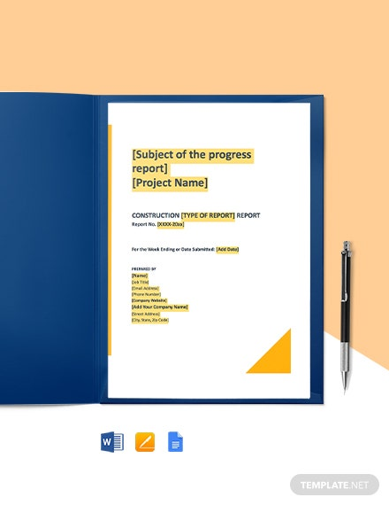 Free Basic Construction Report Template
