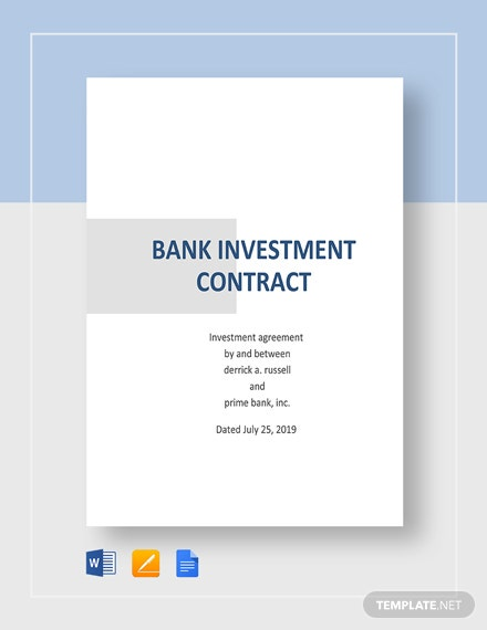 Bank Investment Contract Template