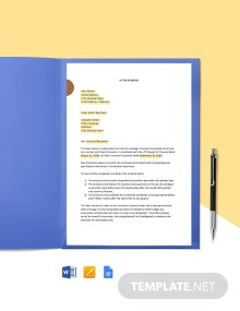 Construction Letter of Intent Template