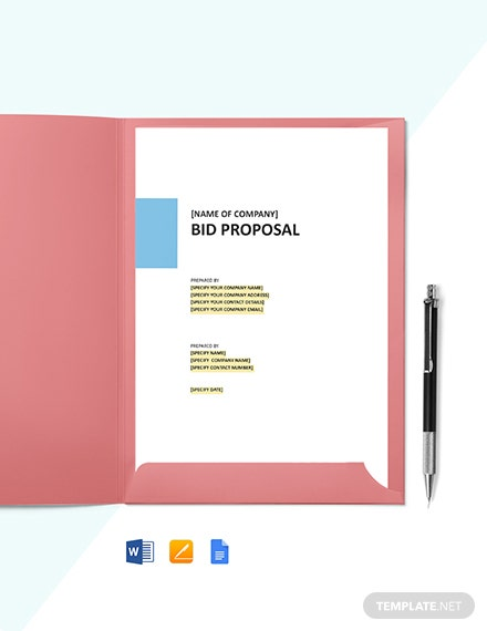 DJ Bid Proposal Template