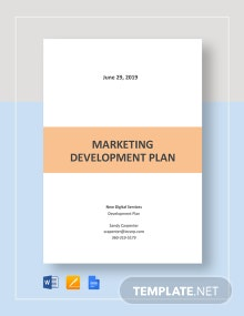Marketing Development Plan Template