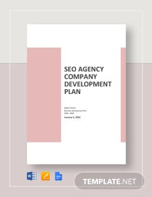 SEO Agency_Company Development Plan Template
