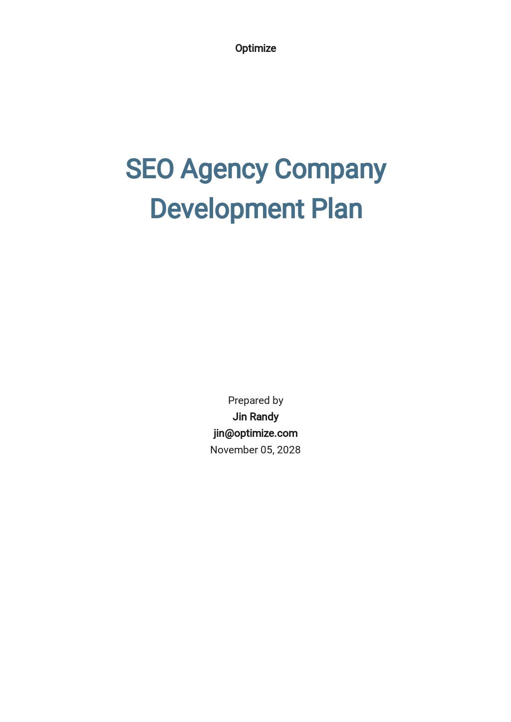 SEO Agency_Company Development Plan Template
