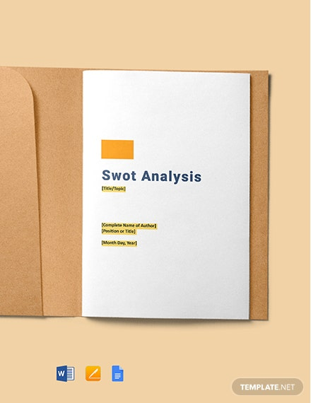 Free Blank Swot Analysis Template