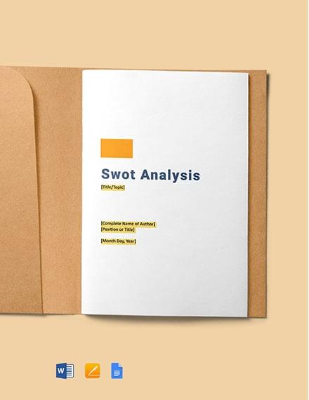 Free Blank Swot Analysis Template
