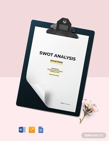 Free Sample SWOT Analysis Template