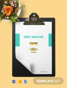 Free Simple Construction Swot Analysis Template