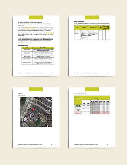 Construction Communication Plan example