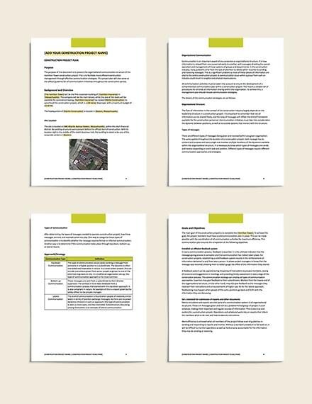 sample Construction Communication Plan