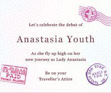 Passport Debut Invitation Template