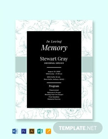 Free Simple Memorial Program Template